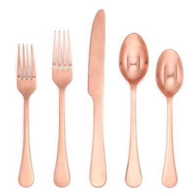 Cambridge® Katni Rumbled 20 Piece Flatware Set In Copper