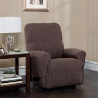 Stretch Sensations Stretch Floral Recliner Slipcover in Chocolate