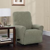 Stretch Sensations Stretch Floral Recliner Slipcover in Sage