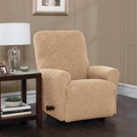 Stretch Sensations Stretch Floral Recliner Slipcover in Sand