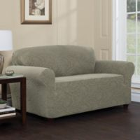 Stretch Sensations Stretch Floral Sofa Slipcover in Sage