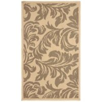 Laura Ashley® Jaya Devon Indoor/Outdoor 2-Foot 3-Inch x 3-Foot 9-Inch Accent Rug in Taupe