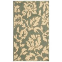 Laura Ashley® Jaya Bennet Indoor/Outdoor 2-Foot 3-Inch x 3-Foot 9-Inch Area Rug in Green