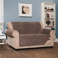 Reversible Shaggy Wing Sofa Cover in Chocolate