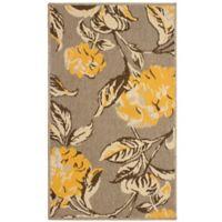 Laura Ashley® Jaya Hydrangea Indoor/Outdoor 2-Foot 3-Inch x 3-Foot 9-Inch Accent Rug in Yellow