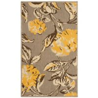 Laura Ashley® Jaya Hydrangea Indoor/Outdoor 4-Foot x 6-Foot Area Rug in Yellow