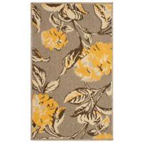 Laura Ashley® Jaya Hydrangea Indoor/Outdoor 5-Foot x 8-Foot Area Rug in Yellow