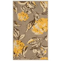 Laura Ashley® Jaya Hydrangea Indoor/Outdoor 8-Foot x 11-Foot Area Rug in Yellow