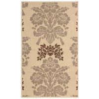 Laura Ashley® Tatton 2-Foot x 3-Foot Indoor/Outdoor Accent Rug in Taupe