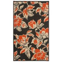 Laura Ashley® Jaya Carlisle Indoor/Outdoor 8-Foot x 11-Foot Area Rug in Orange