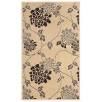 Laura Ashley® Jaya Chrysanthemum Indoor/Outdoor 2-Foot x 3-Foot Accent Rug in Beige