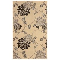 Laura Ashley® Jaya Chrysanthemum Indoor/Outdoor 4-Foot x 6-Foot Area Rug in Beige