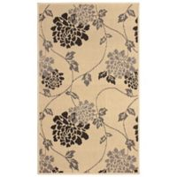 Laura Ashley® Jaya Chrysanthemum Indoor/Outdoor 8-Foot x 11-Foot Area Rug in Beige