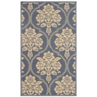 Laura Ashley® Jaya Tatton Indoor/Outdoor 2-Foot x 3-Foot Accent Rug in Blue/Beige