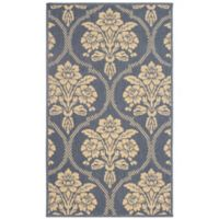 Laura Ashley® Jaya Tatton Indoor/Outdoor 2-Foot 3-Inch x 3-Foot 9-Inch Accent Rug in Blue/Beige