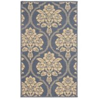 Laura Ashley® Jaya Tatton Indoor/Outdoor 4-Foot x 6-Foot Area Rug in Blue/Beige