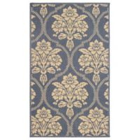 Laura Ashley® Jaya Tatton Indoor/Outdoor 5-Foot x 8-Foot Area Rug in Blue/Beige