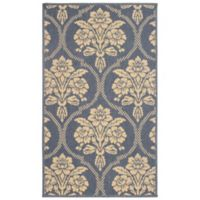 Laura Ashley® Jaya Tatton Indoor/Outdoor 8-Foot x 11-Foot Area Rug in Blue/Beige