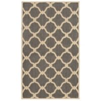 Laura Ashley® Jaya Arietta Indoor/Outdoor 2-Foot 3-Inch x 3-Foot 9-Inch Accent Rug in Grey/Beige