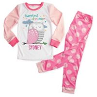 """Sweetest Dreamer"" Size 2T 2-Piece Owl Pajama Set in Pink"