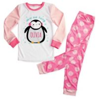 """""""Warm and Fuzzy"""" Size 4T 2-Piece Penguin Pajama Set in Pink"""