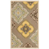 Laura Ashley® Jaya Allie Indoor/Outdoor 2-Foot 3-Inch x 3-Foot 9-Inch Accent Rug in Taupe