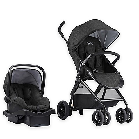 Buy Evenflo 174 Sibby Travel System In Charcoal Black From