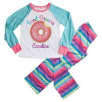 """Sweet Dreams"" Medium 2-Piece Donut Pajama Set in Blue"