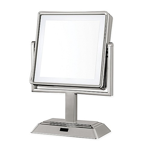Conair 174 Square Led 1x 5x Lighted Vanity Mirror In Satin