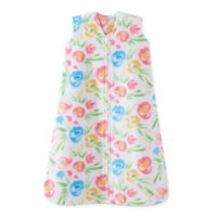 HALO® SleepSack® Medium Water Floral Fleece Wearable Blanket in White