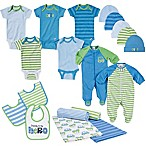 Gerber® Size 0-3M 19-Piece Car Layette Set in Blue