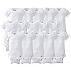 Gerber ONESIES® Brand Size 0-9M 15-Pack Short Sleeve Bodysuits in White