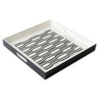 Modern Tray in White/Black