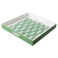 Modern Tray in Green/White