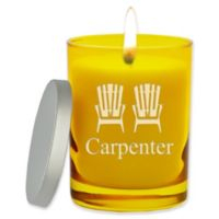 Carved Solutions Gem Collection Adirondack Chairs Unscented Soy Wax Glass Candle in Citron