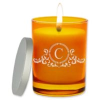 Carved Solutions Gem Collection Unscented Elegant Soy Wax Glass Jar Candle in Topaz