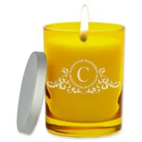 Carved Solutions Gem Collection Unscented Elegant Soy Wax Glass Jar Candle in Citrine
