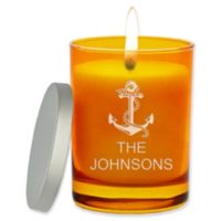 Carved Solutions Gem Collection Unscented Anchor Soy Wax Glass Jar Candle in Topaz