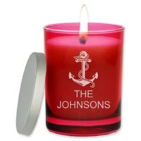 Carved Solutions Gem Collection Unscented Anchor Soy Wax Glass Jar Candle in Ruby