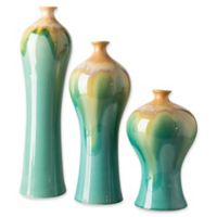 Surya Gillian Transitional Decorative Vases in Blue/Gold (Set of 3)