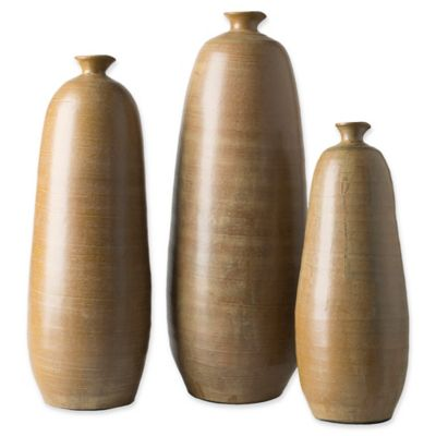 Charmant Surya Jennings Decorative Vases In Tan (Set Of 3)