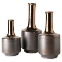 Surya Harding Decorative Vases in Light Brown/Gold (Set of 3)