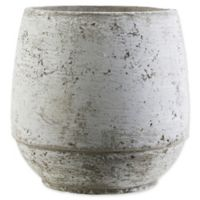 Surya Small Decorative Pot in Country Brown/White