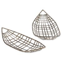 INK+IVY Chabot 2-Piece Tray Set in Black