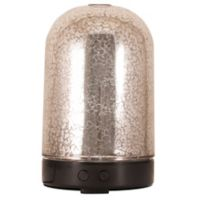 ScentSationals Glisten Small Lighted Ultrasonic Essential Oil Diffuser in Silver