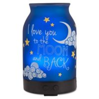 ScentSationals To the Moon Small Lighted Ultrasonic Essential Oil Diffuser in Blue/White