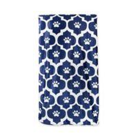 Moroccan Fleece Large Pet Throw Blanket in Blue