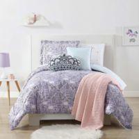 My World Unicorn Princess Twin XL Comforter Set in Purple