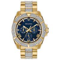 Bulova Men's 44mm Swarovski® Crystal Watch in Goldtone Stainless Steel