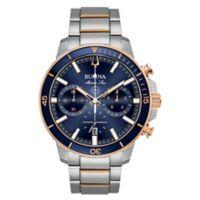 Bulova Men's 45mm Marine Star Chronograph Watch in Rose-Goldtone Stainless Steel